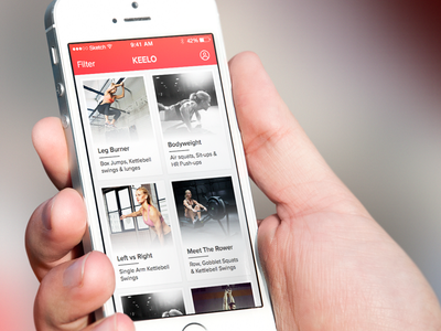 Keelo - iOS App keelo app iphone ios workout fitness