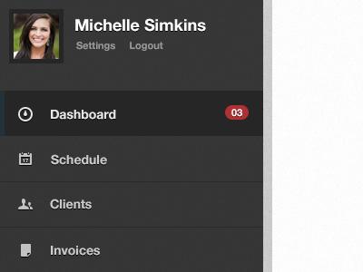 Dashboard Profile dashboard profile clean ui dark