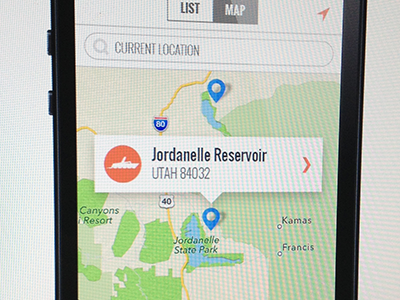 iOS Map ios ui iphone app map boating wakeboard search location navigation