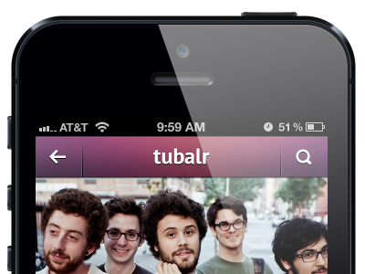 Tubalr iPhone App ios iphone iphone5 tubalr music passion pit ui ux apple app search navigation play playlist