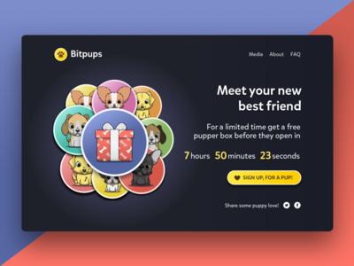 Bitpups Landing Page