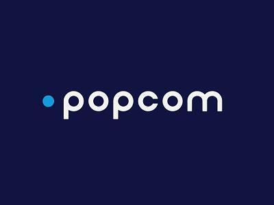 Popcom website graphic design design branding logotype logo design logo