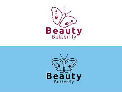 BeautyButterfly logo Design graphic design branding icon logo illustration design