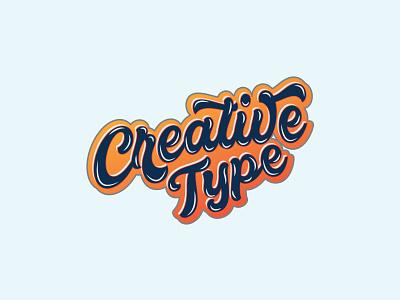 Creative Type Typography vector typography icon graphic design illustration logo design branding