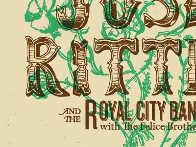 Josh Ritter joshritter typography handdrawn botanicals overprint