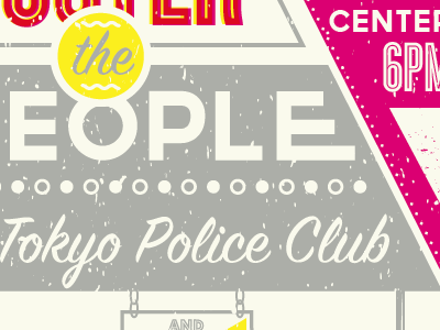 Foster 1 signage foster the people tokyo police club kimbra mann center philadelphia silver vintage