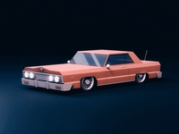 Musclecar cinema4d modelling american auto automobile classic 3d musclecar car
