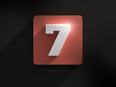 ICT7 mockup logo icon flat 3d shadow flare ict7