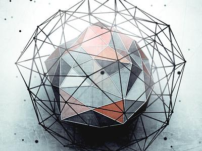 Atom triangles 3d photoshop cinema4d array atom