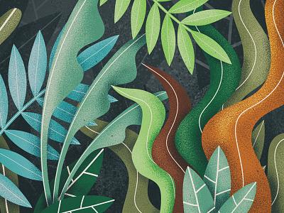 Jungle 2 styleframe background wallpaper procreate jungle design illustration flat 2d