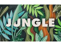 Jungle logo styleframe branding nature jungle procreate design illustration flat 2d