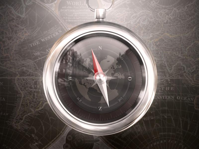 Compass compass icon 3d photoshop map ui