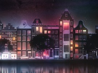 Streets of Amsterdam city illustration illustrator cinema4d holland dutch skyline city streets street amsterdam
