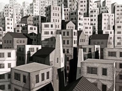 Unknown Village - Styleframe exploration villager aftereffects cinema4d 3d cityscape styleframe background skyline city village