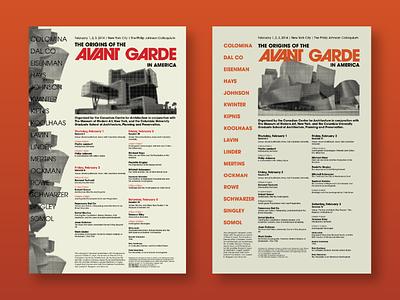 Avant Garde Posters design text
