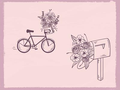 Brand Illustrations for TriFlorals flower illustration flowers floral brand illustration illustrations branding agency illustration graphic design branding brand identity