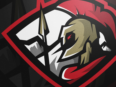 Spartan red mascot badge design action sports logo logos sports sparta spartan logo mikecdesigns mikecharles