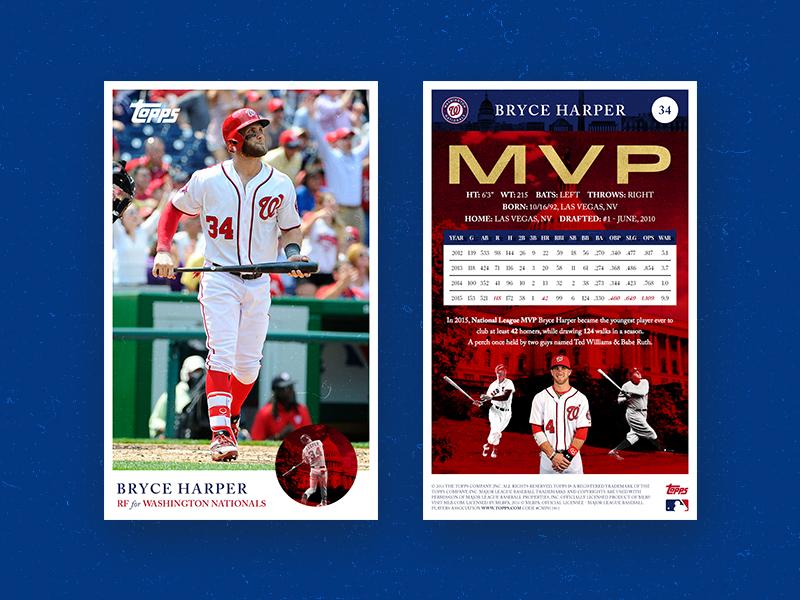 Bryce Harper Topps Baseball Card By David Snowden On Dribbble