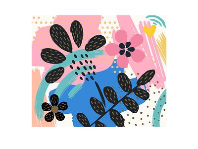 Estampas flores design de estampa ilustração digital art design