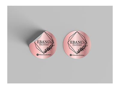 """Rotulo """"Ebano Fancy Boutique"""" comunicação visual adesivo identidade de marca design"""