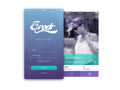 Erodr App app mobile ux ui
