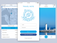 Travel Note concept app