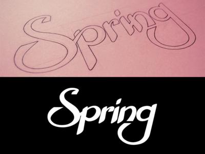 Spring Logo lettering logo