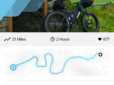 67 Miles App mlsdev motion travel trip ios bicycle app effects after animation gif