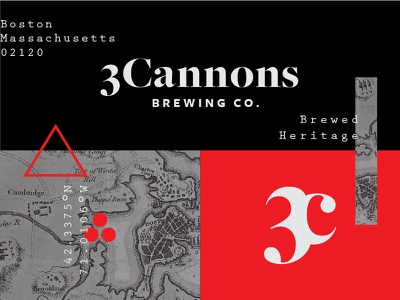 3Cannons Brewing Co. Brand Elements heritage boston 3 cannons branding beer