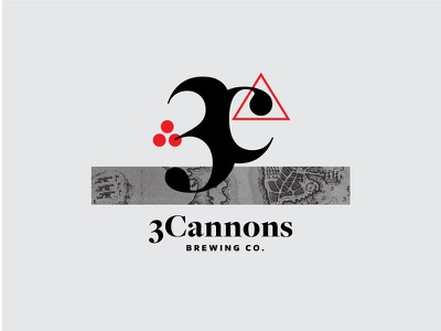 3Cannons Brewing Co. heritage boston 3 cannons branding beer