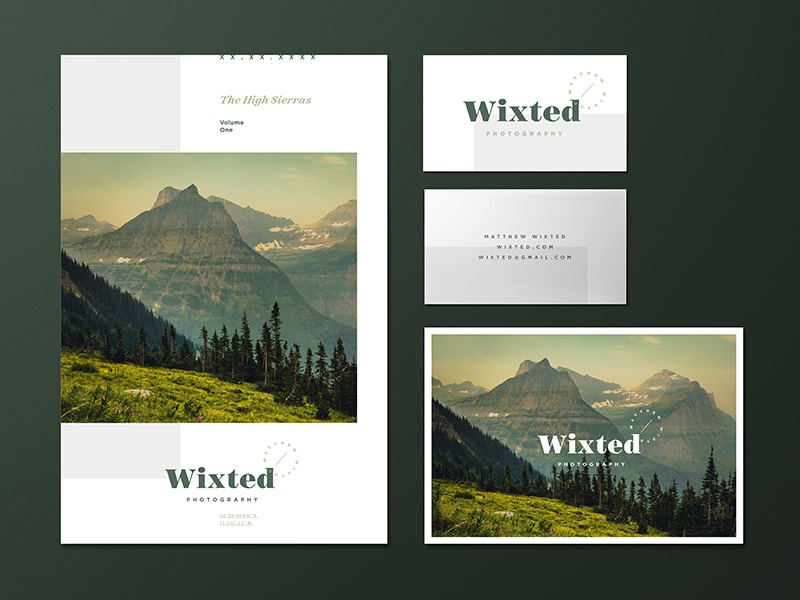 Wixted Photography - Photo Book & Business Cards photo book business cards photography logo
