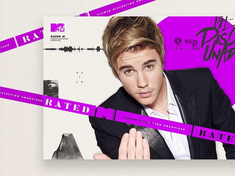MTV - Rated M Justin Bieber collage justin bieber danger rated caution tape logo mtv