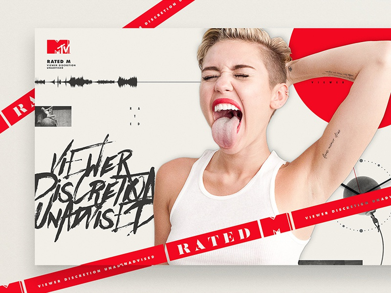MTV - Rated M Miley Cyrus collge miley cyrus danger rated caution tape logo mtv