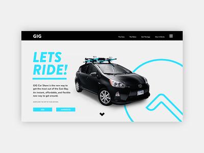 GIG Car Share - Web
