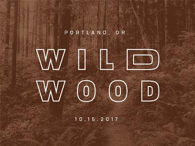 Wildwood Secondary Type pattern pacific northwest oregon portland running trail diamond w wildwood