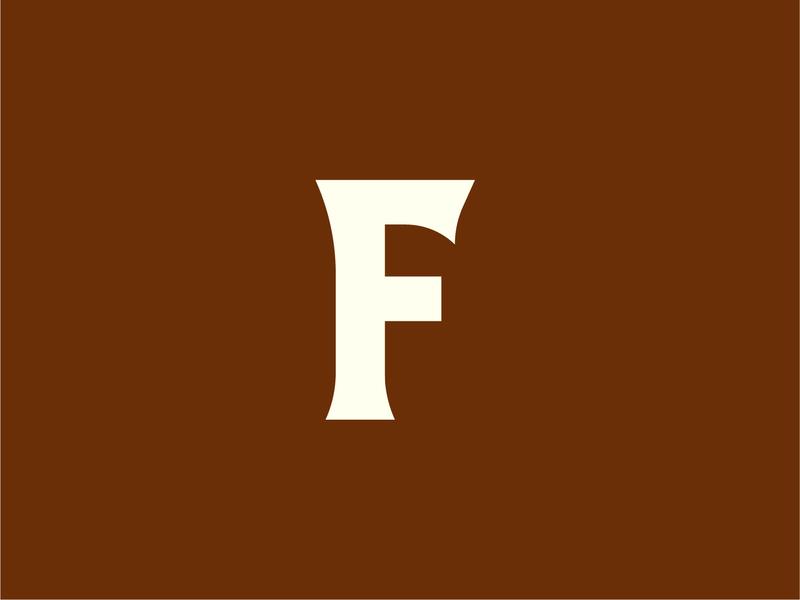 Letter By Letter: F flat custom serif letter f