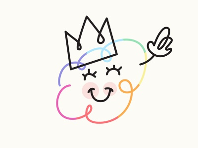 Heyo! pride month happy crown cloud rainbow pride