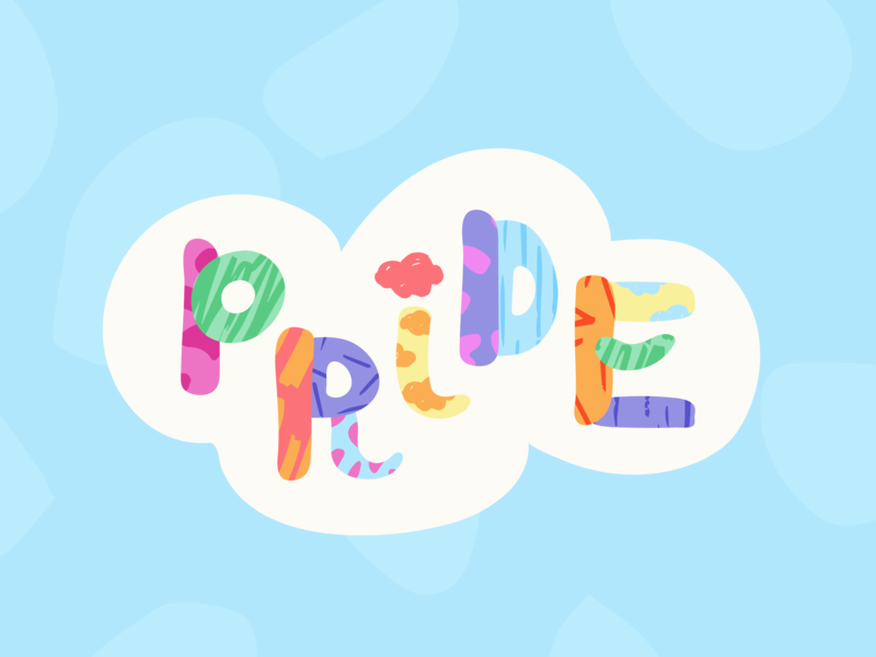 Pride High In the Sky pride month type texture color cloud pride