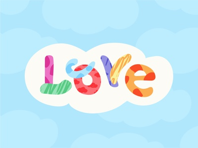 Love Is In The Air pride month rainbow cloud love pride