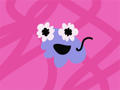 Purple For Spirit illustration love flower pride blob