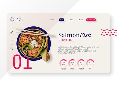 Okay Poke Website web logo web design website ux ui branding minimal illustrator graphic design design