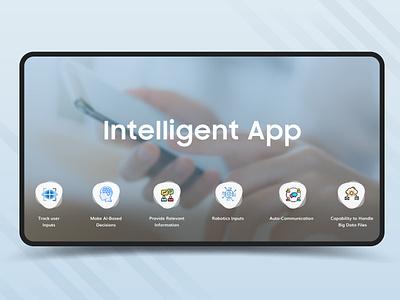 Intelligent Apps social media banner social media promotion dribbbble graphics design robotics artificial intelligence intelligent apps design illustration ui design mobile app sandip godhaniya
