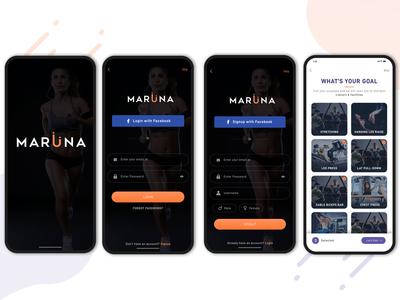 Maruna Mobile App - Find best gym trainer
