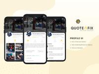 QuotenFix Profile UI Concept