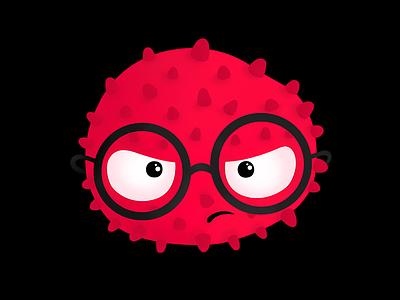 Grumpy digital painting illustration graphic fun design commission character grumpy branding bacteria