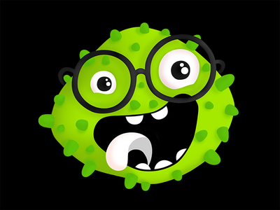 Buzz digital painting buzz illustration graphic fun design commission character branding bacteria