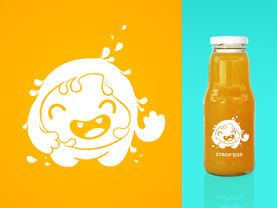 Strop'Sor graphic design character design fun happy drop kids children juice illustration cartoon design character