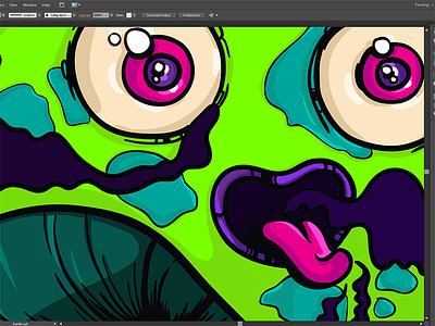 Euphoria_process digital painting process illustration design character cartoon mushroom euphoria
