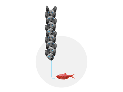 Gone fishing digital collage gone fishing conceptual illustration design minimal abstract photography art collage
