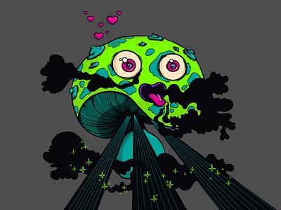 Euphoria digital painting mushroom illustration euphoria design character cartoon